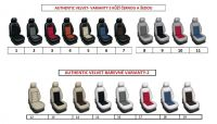 Tailor made car seat covers 5 separate seat leather with Alcantara AUTHENTIC VELVET
