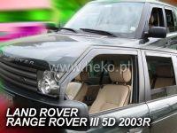 SIDE WINDOW AIR DEFLECTORS for car Land Rover Range Rover III, 2002 =>, front + rear door HDT