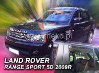 SIDE WINDOW AIR DEFLECTORS for car Land Rover Range Rover Sport 5D, 2005 =>, front + rear door HDT