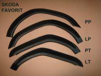Fender Flares plastic Skoda Favorit 4pcs set (front + rear)