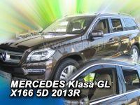 Windows deflector Mercedes GL X166 5D 2013R =>, 4pc front+rear