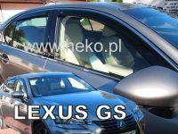 Windows deflector Lexus GS 4D 2012R =>, 4 pc front+rear