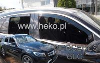 Windows deflector Mercedes GLC X253 5D 2016R=>, 4pc front+rear