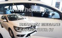Windows deflector Renault Megane IV 5D 2016r =>, 4pc front+rear