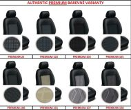 Tailor made car seat covers AUTHENTIC PREMIUM upholstery fabrics, 5 separate seat