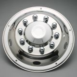 "Universal front Wheels covers Deluxe 17,5"" stainless steel 1pc"
