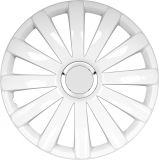 "Universal Wheels covers white 14"" SPYDER PRO white, 4pc"