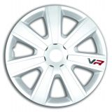 """Universal Wheels covers white 16"""" VR CARBON white, 4pc"""