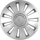 """Universal Wheels covers silver 17"""" SILVERSTONE 4pc"""