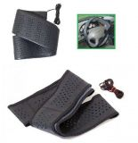 Steering wheel cover  leatherette 41 cm