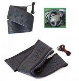 Steering wheel cover  leatherette 41 cm