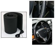 Steering wheel cover black 40,5-43cm