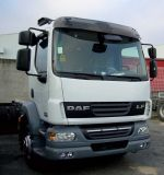 Sun visors DAF LF standard with mirror, acrylic with mounting assembly