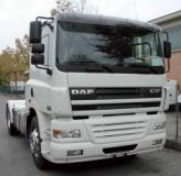 Sun visors DAF CF 65/75/85 cast acrylic with mounting assembly