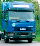 Sun visors Iveco Eurocargo => 04/2003, high roof or spoiler, acrylic  with mounting assembly