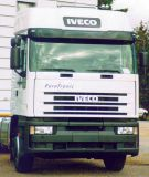 Sun visors Iveco Eurostar, medium high/high roof, acrylic  with mounting assembly