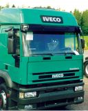 Sun visors Iveco Eurotech, Euro standard with spoiler, acrylic with mounting assembly