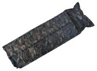 Sleeping pad with pillow self-inflatable camping NAVY 183x58x2,5cm