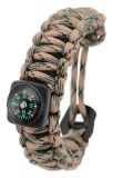 Pocket Survival Bracelet with compass and chalk