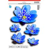Car Sticker Blue water lily flowers 30 x 23 cm with UV filter