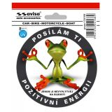 Car Sticker Frog I send you a positive energy of 141 x 121 mm with UV filter