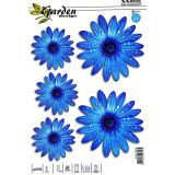 Car Sticker Blue flowers 5pc with UV filter
