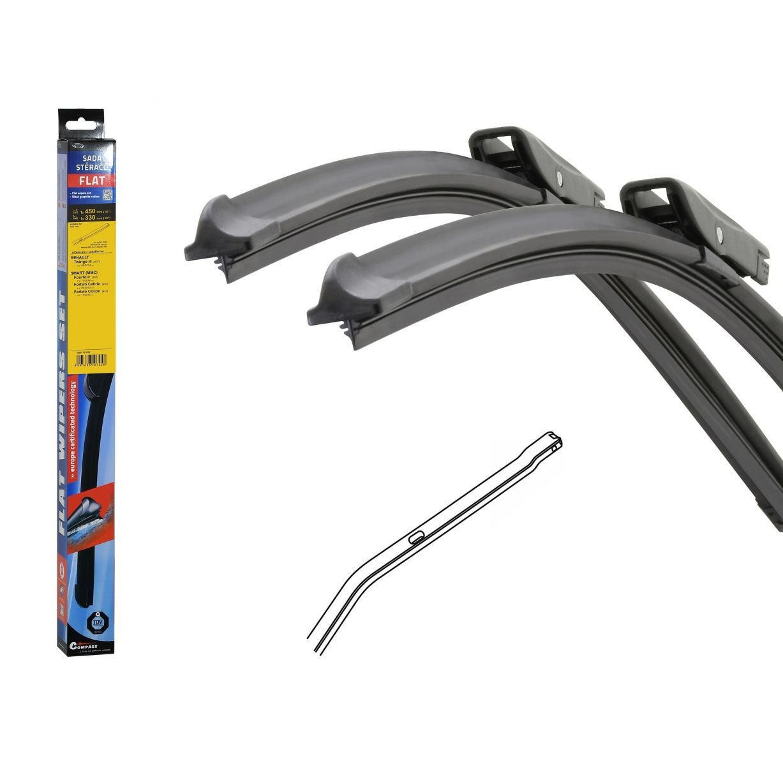Wiper blades Renault Twingo, Smart FLAT SET (BOLT) 480+330mm, 2pc