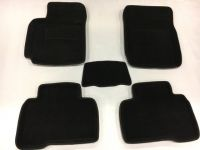 Luxury Textile car mats for HONDA CIVIC IX HB, black, 2011-