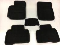 Luxury Textile car mats for Hyundai TUCSON III, black, 2015-