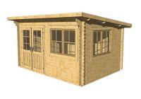 Wooden cottage cottage Lille toit plat, 10,2 m2
