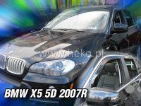 SIDE WINDOW AIR DEFLECTORS for car BMW X5 5D 2007 => front + rear door HDT