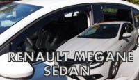 Side window air deflectors Renault Megane IV 4D 2017r =>, front+rear, Grandcoupe