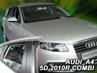 SIDE WINDOW AIR DEFLECTORS for car Audi A4 5D 2009 => front + rear door HDT