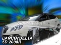 Window deflector Lancia Delta 2008 =>, front + rear door HDT