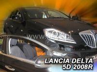 SIDE WINDOW AIR DEFLECTORS for car Lancia Delta 2008 =>, front door HDT