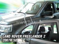 SIDE WINDOW AIR DEFLECTORS for car Land Rover Freelander II 5D. 2007 =>, front + rear door HDT