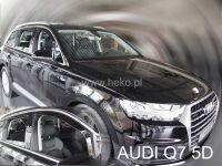 SIDE WINDOW AIR DEFLECTORS for car Audi Q7 II 5D 15R =>, front + rear door HDT