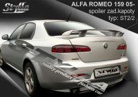 Rear spoiler wing for Alfa Romeo 159, 2005 =>