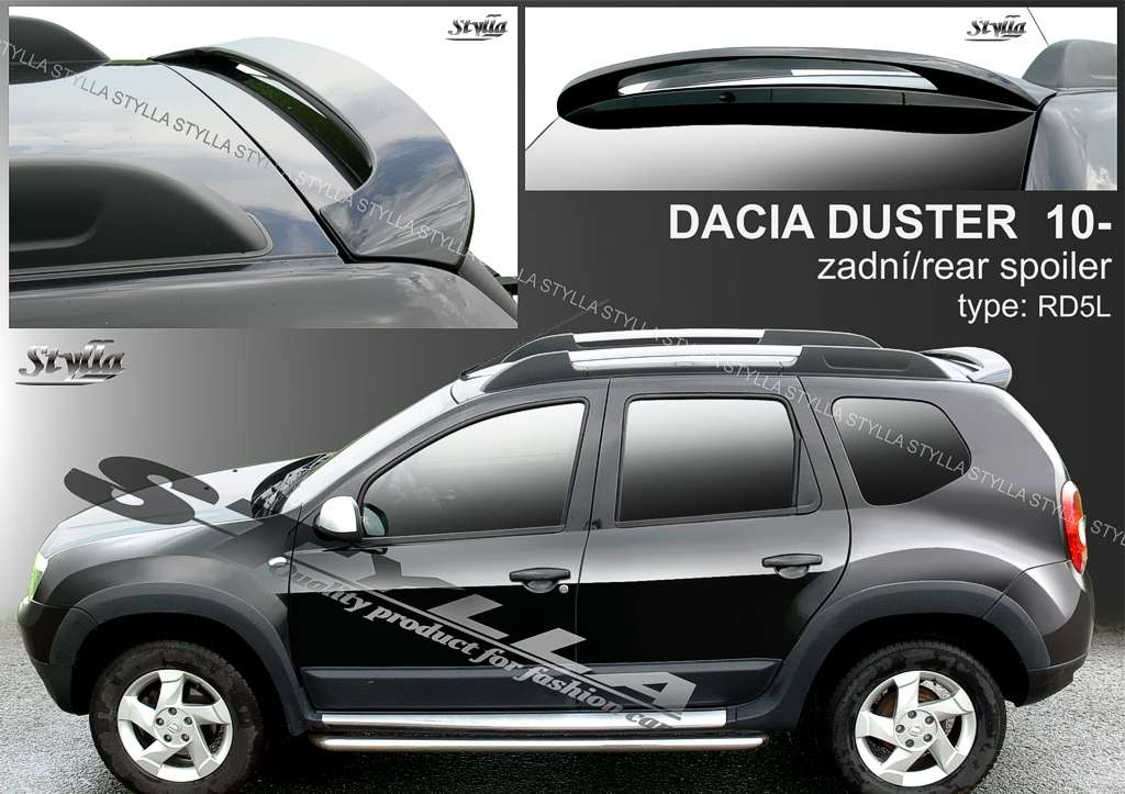 rear spoiler wing for dacia duster 2010r 2014r stylla. Black Bedroom Furniture Sets. Home Design Ideas