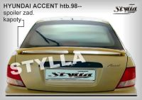 Rear spoiler wing for HYUNDAI Accent htb 1998-2000r