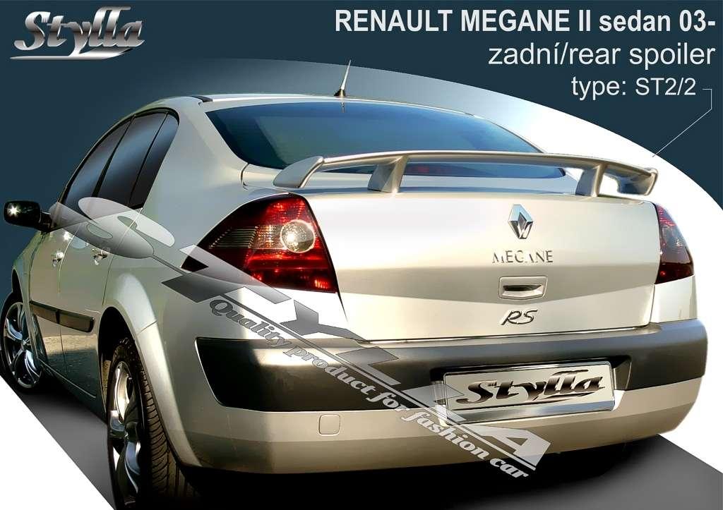 Car Spoilers for RENAULT Megane II sedan 2003r => Stylla