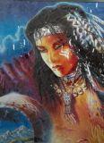 Car Sticker Indian native american girl 35x45 cm
