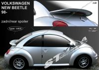 Rear spoiler wing for VW New Beetle 1998r =>, cutout for the brake light