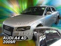 SIDE WINDOW AIR DEFLECTORS for car Audi A4 4D 2009 => sedan, front + rear door HDT