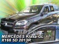 Window deflector Mercedes GL X 166 5D 2013 =>, 2pc front door