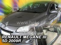 Window deflector RENAULT Megane III 5D, 2008 =>, front + rear door