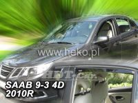 Window deflector SAAB 93 4D, 2002 =>, front + rear door