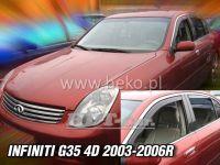 Window deflector Infiniti G35 4D 2003-2006, front + rear door