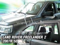 SIDE WINDOW AIR DEFLECTORS for car Land Rover Freelander II 5D. 2007 =>, front + rear door