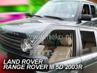 SIDE WINDOW AIR DEFLECTORS for car Land Rover Range Rover III, 2002 =>,  front + rear door
